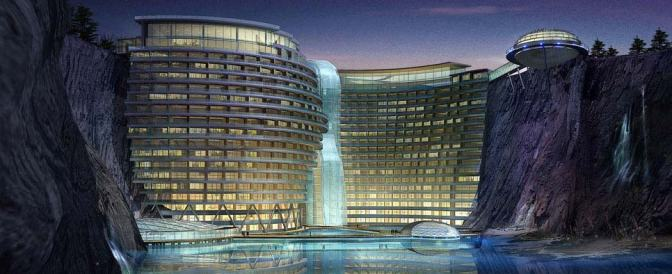 Songjiang Shimao Hotel China A submerged 5 Star Hotel
