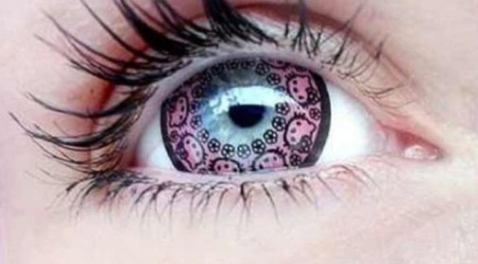 Hello Kitty Color Contact Lenses Give You Cute Cat Eyes