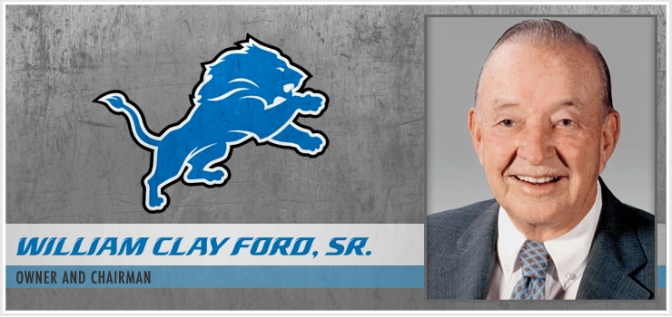 LIONS OWNER WILLIAM CLAY FORD DIES AT 88