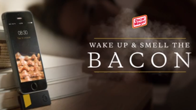 WAKE UP AND SMELL THE BACON … WITH A BACON APP